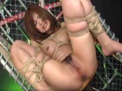 Bondage Sex mit haariger Asia Fotze